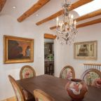 A rustic dining room in Santa Fe, New Mexico