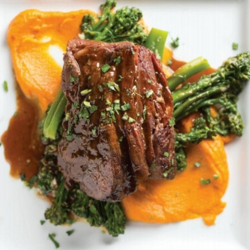 Beef short ribs and broccolini