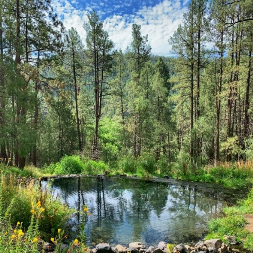 McCauley Warm Spring in the Jemez Mountains, New Mexico