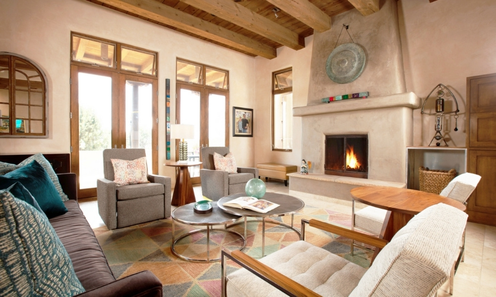 A southwestern styled living room