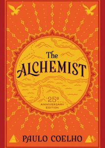 A book cover of The Alchemist