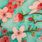 Helen K. Tindel, Time to Bloomwatercolor and ink on rag mat board with resin