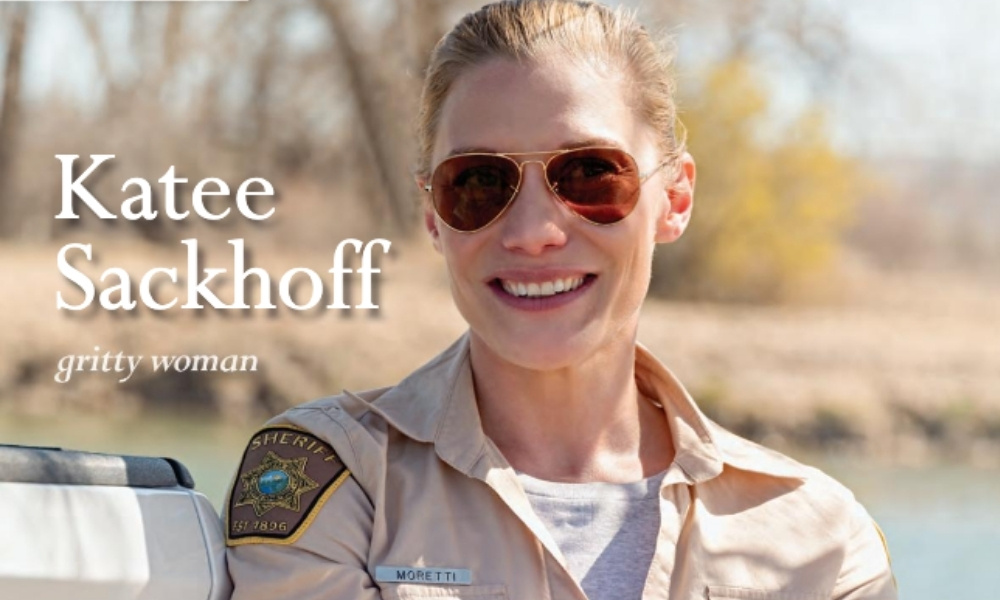 Actor Katee Sackhoff on the set of Longmire