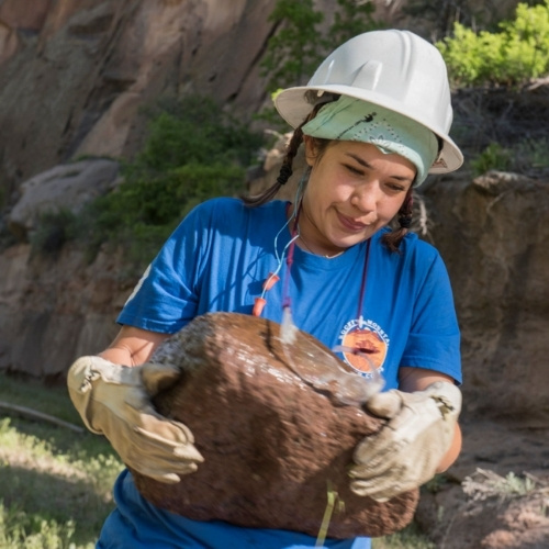 A Rocky Mountain Youth Corps member