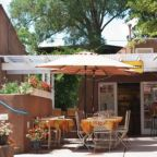 A restaurant patio in Santa Fe, New Mexico