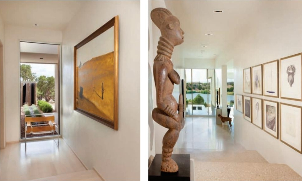 An impressive art collection in a Southwest home