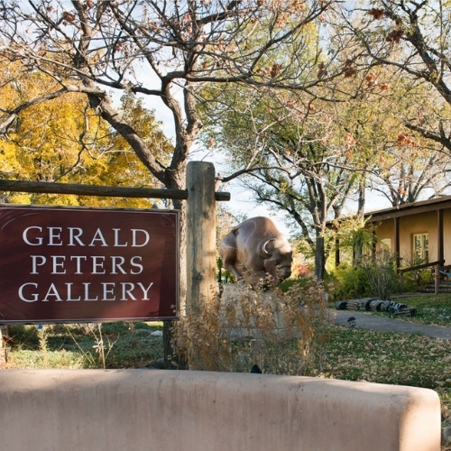 The storefront of Gerald Peters Gallery