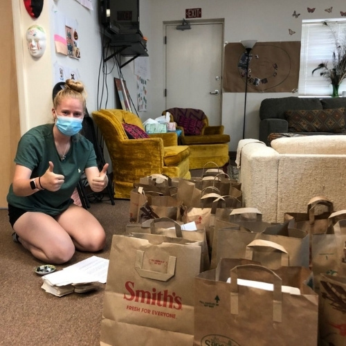 Gerard's House in Santa Fe packing bags for families