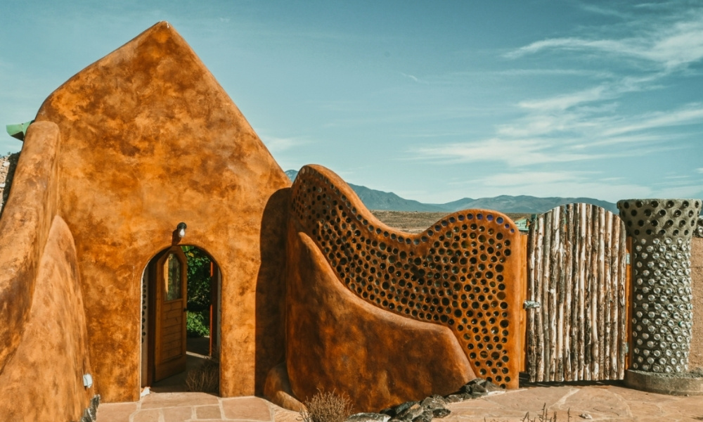 An earthship in Taos, New Mexico