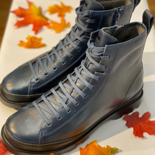silver lace up combat boots