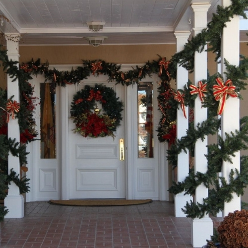 The entrance to the Governor's Mansion in Santa Fe, New Mexico