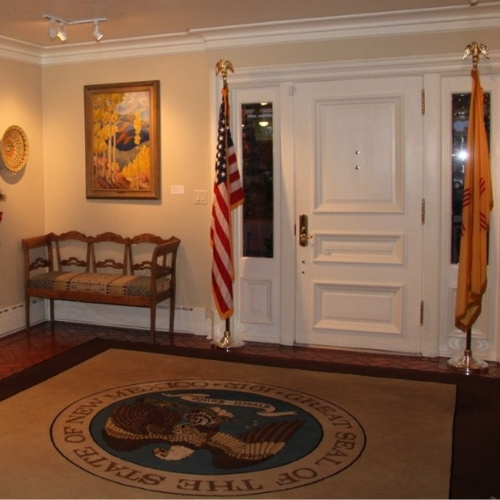 The foyer of the Governor's Mansion in Santa Fe