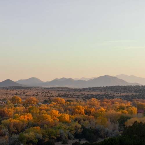 The Ortiz Mountains in New Mexico
