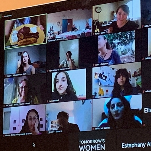 A Zoom gathering of Tomorrow's Women