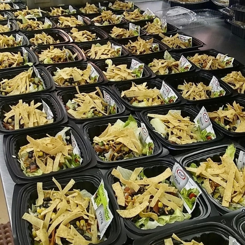 Meals are prepped for distribution by Santa Fe YouthWorks.