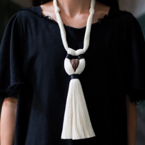 A necklace sold by Heritage by Hand in Santa Fe
